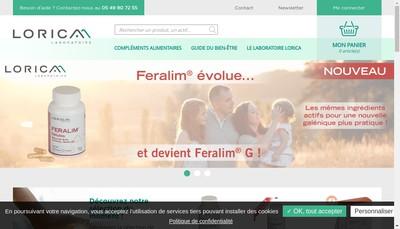 Site internet de Laboratoire Lorica