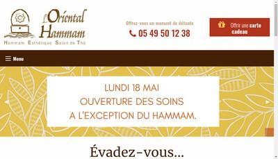Site internet de L'Oriental Hammam
