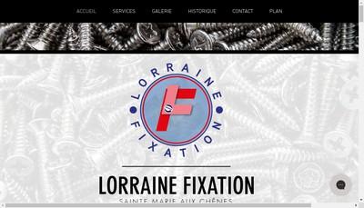 Site internet de Lorraine Fixation
