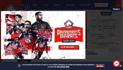 Site internet de Losc Lille
