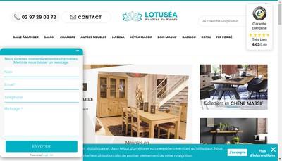 Site internet de Lotusea Exotic Trading