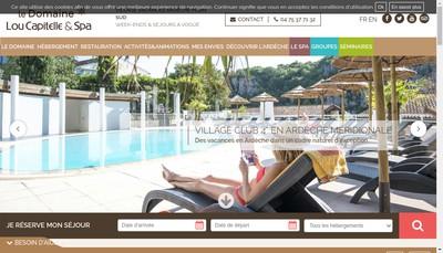 Site internet de Domaine Lou Capitelle