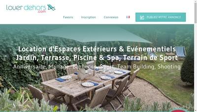 Site internet de Louer Dehors