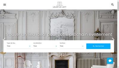 Site internet de Louer un Loft