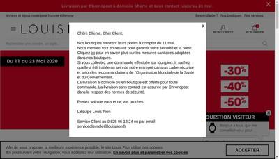 Site internet de Louis Pion