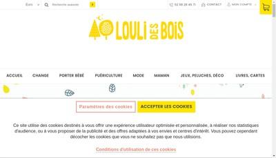 Site internet de Louli des Bois