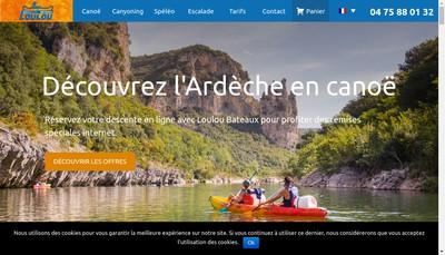 Site internet de Loulou Bateaux