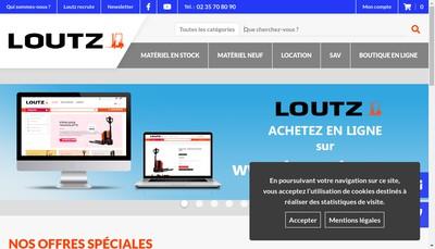 Site internet de Loutz Chariots Elevateurs
