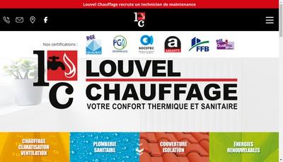 Site internet de Louvel Chauffage