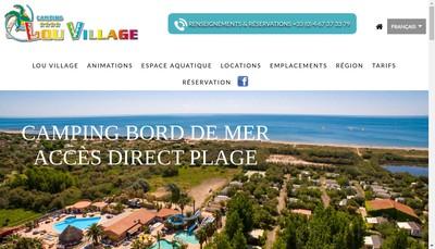Site internet de Societe Nouvelle Lou Village