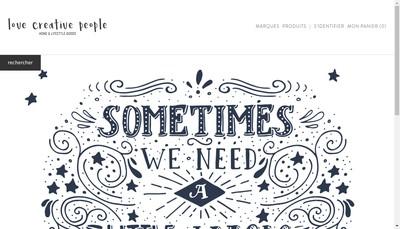 Site internet de Love Creative People