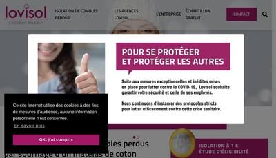 Site internet de Lovisol