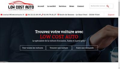 Site internet de Low Cost Auto