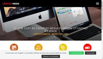 Site internet de Low Cost Media
