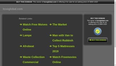 Site internet de Loxo Global