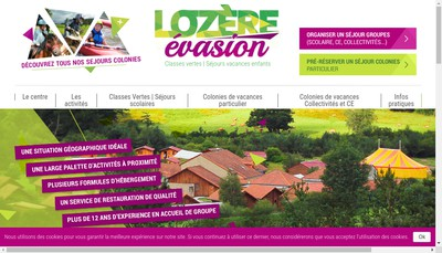 Site internet de Lozere Evasion