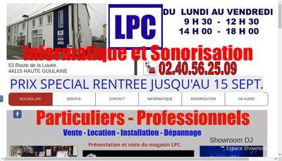 Site internet de Lpc Informatique