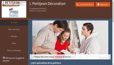 Site internet de L Petitjean Decoration