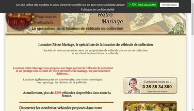 Site internet de Location Retro Mariage