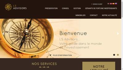 Site internet de Ls Advisors