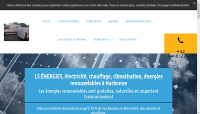 Site internet de Ls Energies