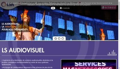 Site internet de Liaisons Systemes Audiovisuels-Ls Audiov