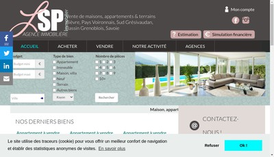 Site internet de Lsp Immobilier - Ls Procom - Lsp
