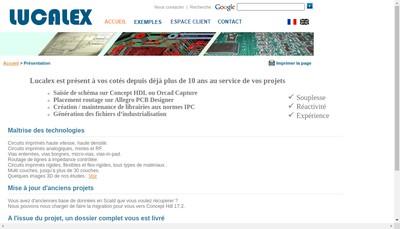 Site internet de Lucalex