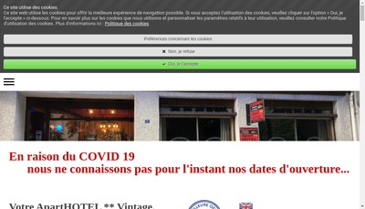 Site internet de Aparthotel le Petit Train