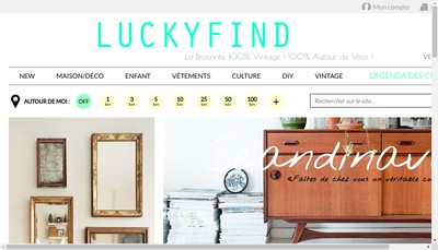 Site internet de Luckyfind