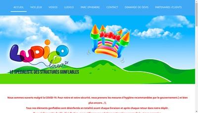 Site internet de Ludigo Loisirs