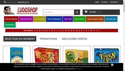 Site internet de Ludoshop