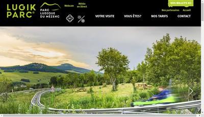 Site internet de Lugik Parc
