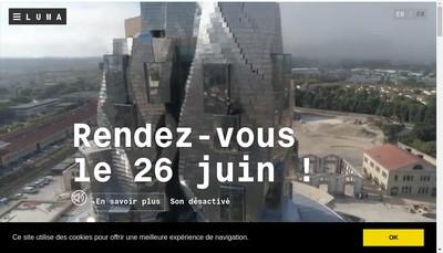 Site internet de Luma Arles