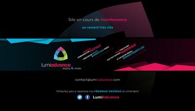 Site internet de Lumiadvance