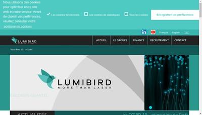 Site internet de Lumibird