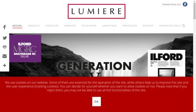 Site internet de Lumiere Imaging France