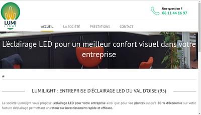 Site internet de Lumi Light