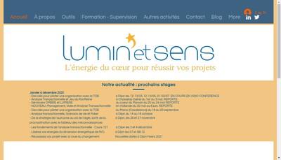Site internet de Lumin'et Sens