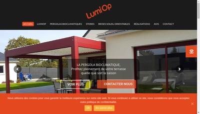 Site internet de Lumi Op