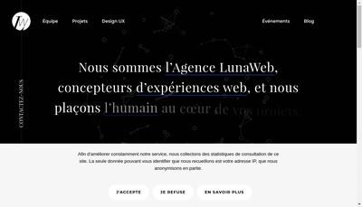Site internet de Lunaweb
