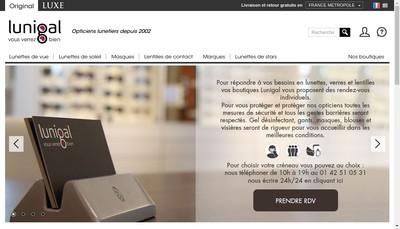 Site internet de Lunigal-Opticiens