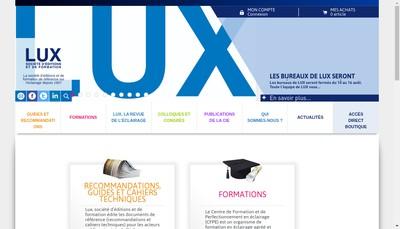Site internet de Lux