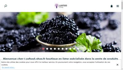 Site internet de Lux Food