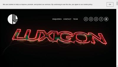 Site internet de Luxigon