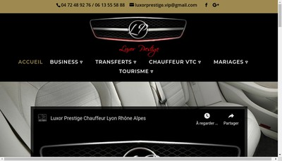 Site internet de Luxor Prestige
