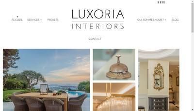 Site internet de Luxoria