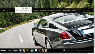 Site internet de Luxury & Services Limousines