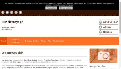 Site internet de Luz Nettoyage Automobile Luz