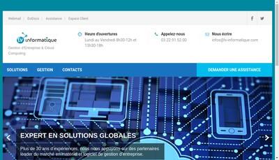 Site internet de Lv Informatique